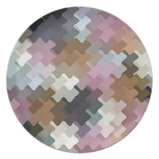 Multicolored Pattern Plate
