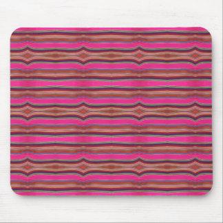 Multicolored Pink Orange Pattern Folk Art Mexico Mouse Pad