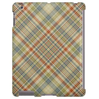 Multicolored plaid pattern iPad case