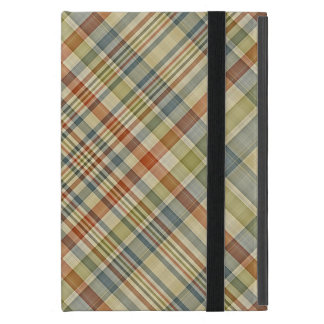 Multicolored plaid pattern covers for iPad mini