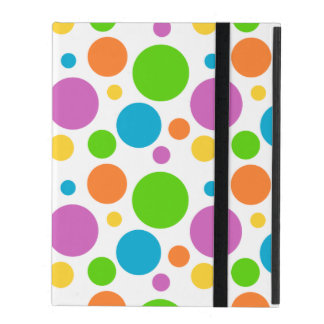 Multicolored Polka Dot Pattern iPad Folio Case