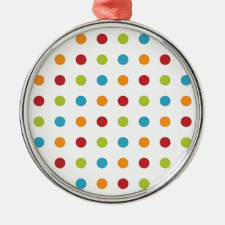 Multicolored Polka Dots Christmas Ornament