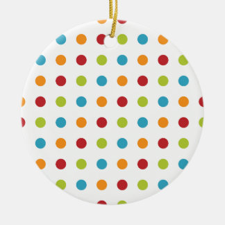 Multicolored Polka Dots Christmas Ornament