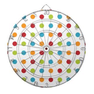 Multicolored Polka Dots Dartboard