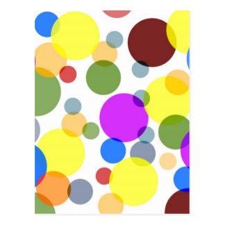 Multicolored Polka Dots Design Postcard