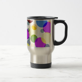 Multicolored Polka Dots Design Stainless Steel Travel Mug