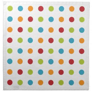 Multicolored Polka Dots Napkin