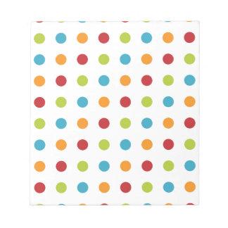 Multicolored Polka Dots Notepad