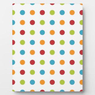 Multicolored Polka Dots Plaque