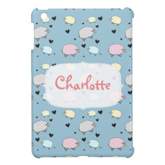 Multicolored Polkadot Pastel Sheep iPad Mini Cover