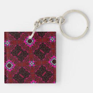 multicolored  random pattern key ring