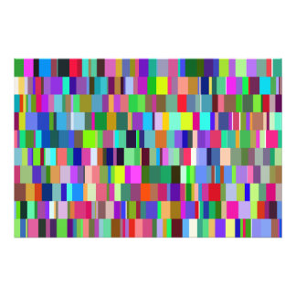 Multicolored Rectangles Abstract Pattern Photo Art