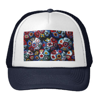 Multicolored rounds trucker hat