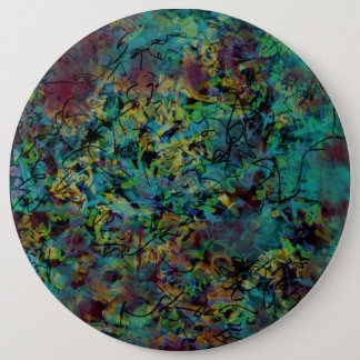 Multicolored Scribbled Abstract Art Button
