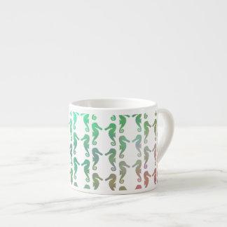 Multicolored Seahorse Pattern Espresso Cup