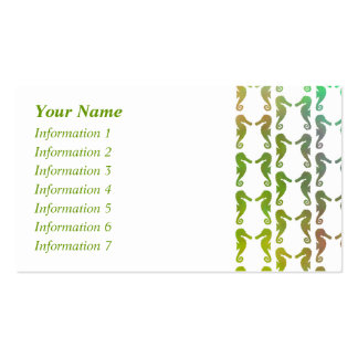 Multicolored Seahorse Pattern Pack Of Standard Business Cards
