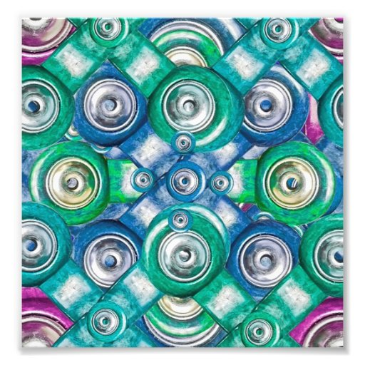 Multicolored Shapes Pattern Photograph