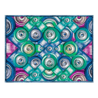 Multicolored Shapes Pattern Post Cards
