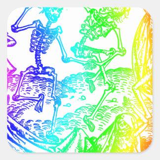 Multicolored Skeleton Dance Sticker