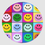 Multicolored Smiley Squares