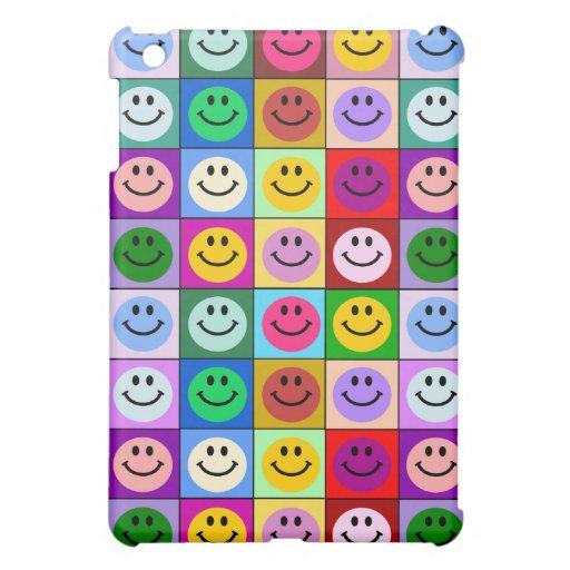 Multicolored Smiley Squares Case For The iPad Mini