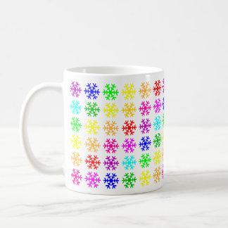 Multicolored Snowflakes Basic White Mug