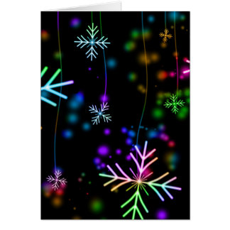 multicolored snowflakes christmas holiday design card