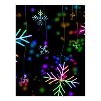 multicolored snowflakes christmas holiday design postcard