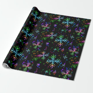 multicolored snowflakes christmas holiday design wrapping paper