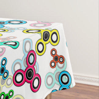 Multicolored spinners tablecloth