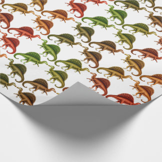 Multicolored Spinosaurus Dinosaur Wrapping Paper