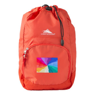 multicolored spirals on  High Sierra Backpack, Backpack