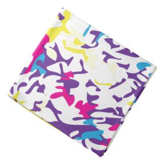 Multicolored Splatter Design Head Kerchief