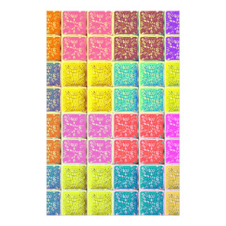 Multicolored Square Artistic Pattern Custom Flyer