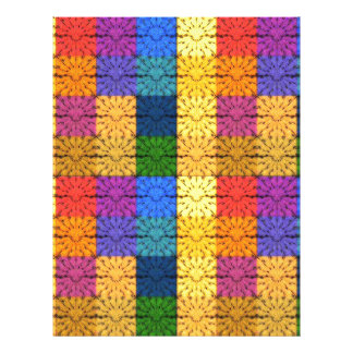 Multicolored Square Blanket  Embroidery Pattern Flyer