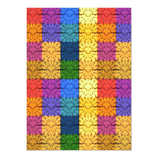 Multicolored Square Blanket  Embroidery Pattern Personalized Announcements