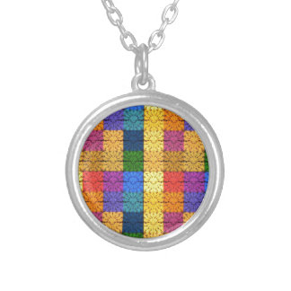 Multicolored Square Blanket  Embroidery Pattern Custom Jewelry