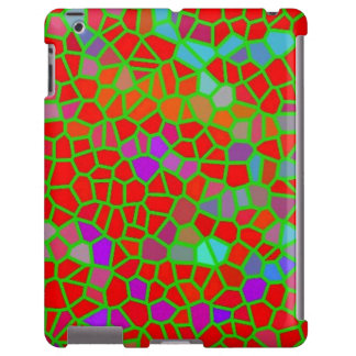 Multicolored stained glass iPad case