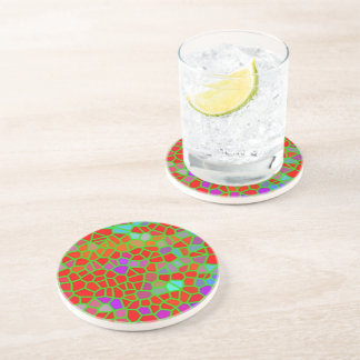 Multicolored stained glass coaster