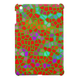Multicolored stained glass iPad mini case