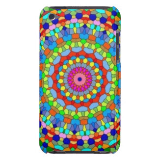 Multicolored Stained Glass Kaleidoscope iPod Touch Case