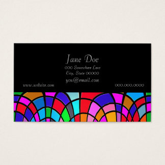 Multicolored Stained Glass Mosaic Abstract Art