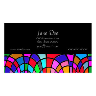 Multicolored Stained Glass Mosaic Abstract Art Pack Of Standard Business Cards