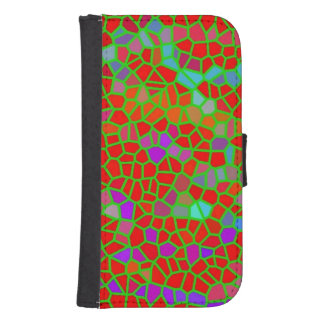 Multicolored stained glass samsung s4 wallet case