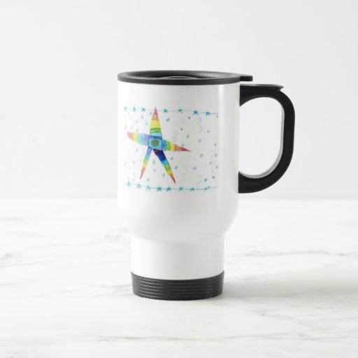 Multicolored Star Coffee Mug