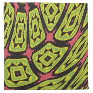 multicolored strange art cool pattern napkin