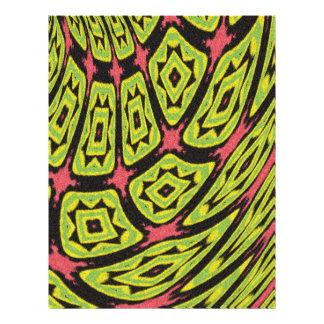 multicolored strange art pattern flyers