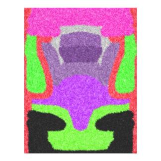 Multicolored strange pattern 21.5 cm x 28 cm flyer