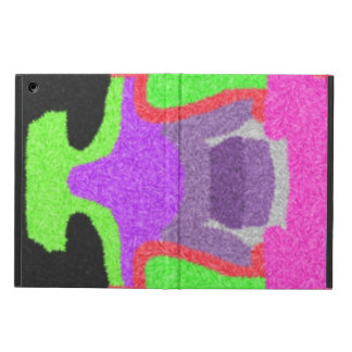 Multicolored strange pattern iPad air covers