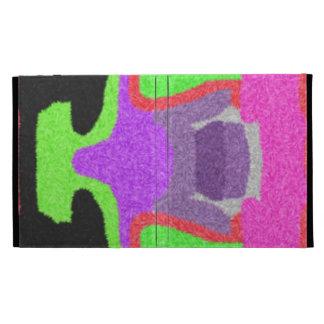 Multicolored strange pattern iPad folio case